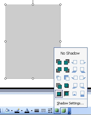 Picture with problem shadow settings